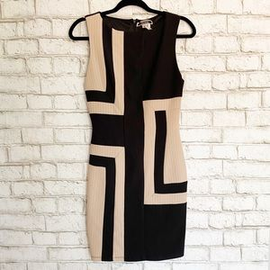Nikibiki Black/Beige Colorblock Bodycon Dress Med